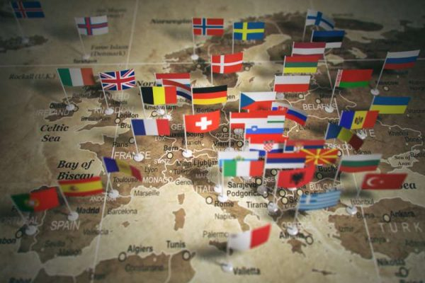 european-union-map-with-flags-of-countries-europe